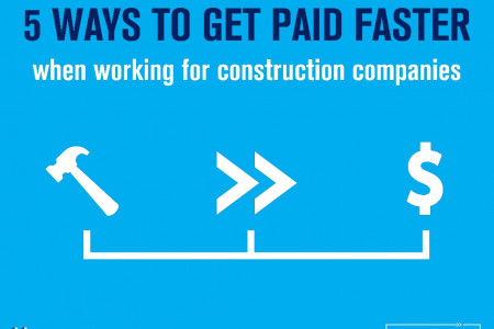 5 Ways To Get Paid Faster when working for construction companies Infographic
