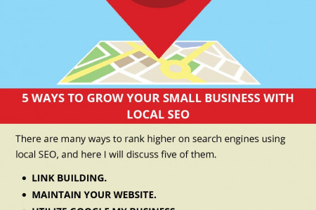 5 WAYS TO GROW YOUR SMALL BUSINESS WITH LOCAL SEO Infographic