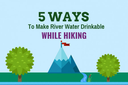5 Ways to Make River Water Drinkable While Hiking Infographic