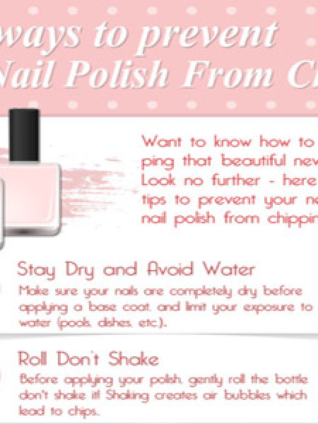 5 Ways to Prevent Nail Polish From Chipping Infographic