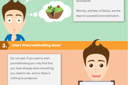 5 Ways to Procrastinate Infographic