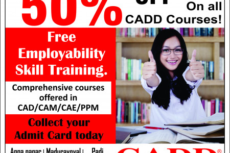 50% Off in all CADD Courses Infographic