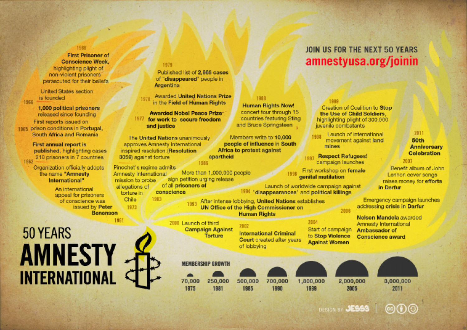 50 Years Amnesty International Infographic