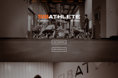 518Athlete Website Redesign Infographic