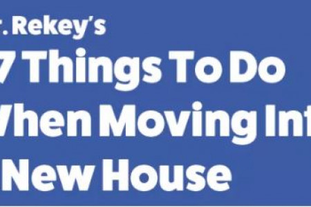 57 Things To Do When Moving Into A New House (And Out of an Old One) Infographic