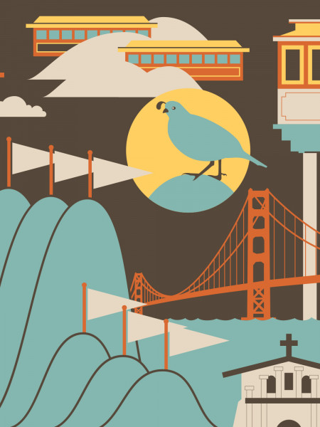 59 Illustrated Fun Facts about San Francisco Infographic