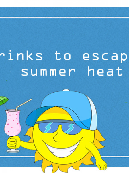 5 Drinks to escape the heat of this Summer Infographic