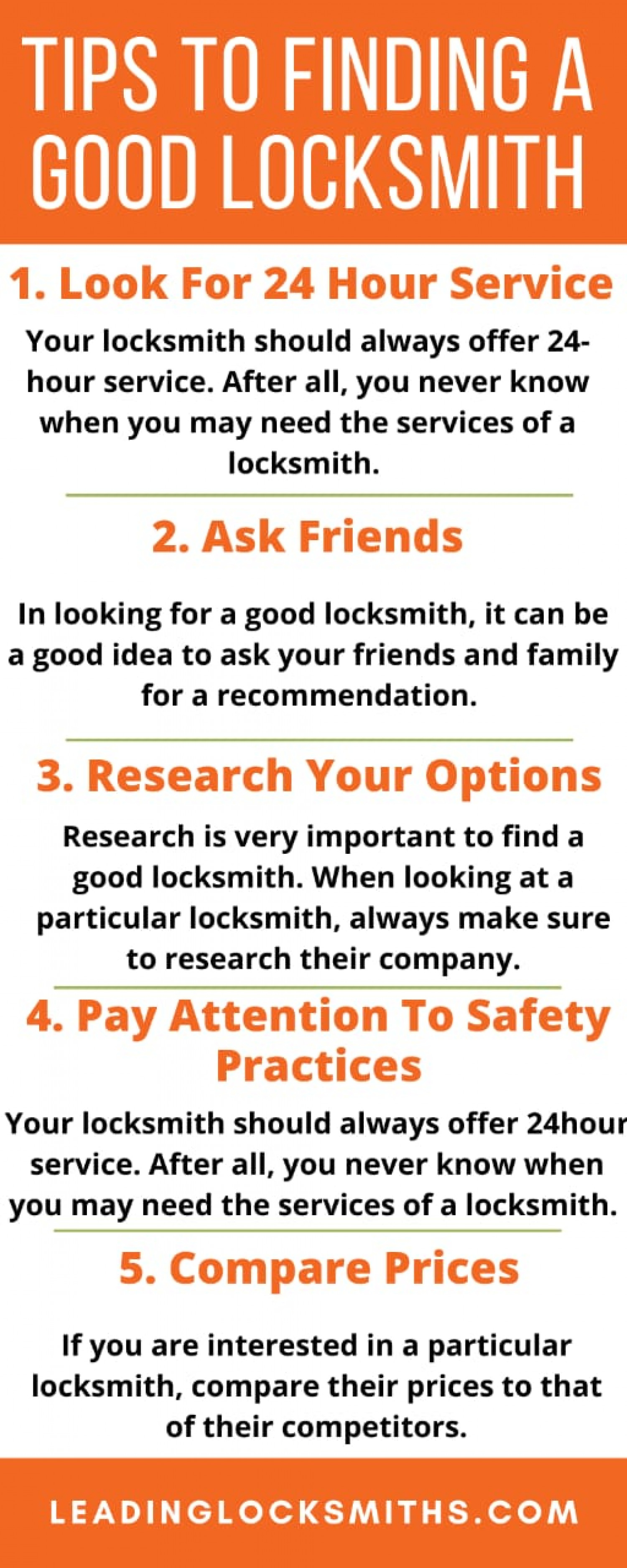 5 Interesting Facts About Locksmith Infographic