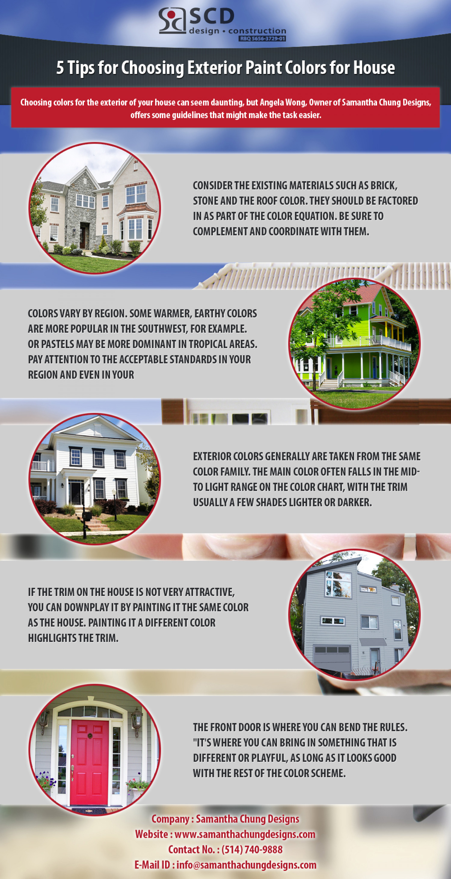 5 tips for choosing exterior paint colors for house - Selecting exterior paint colors concept ...