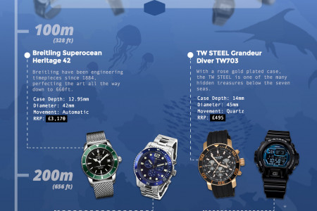 5 Watches to Dive For Infographic