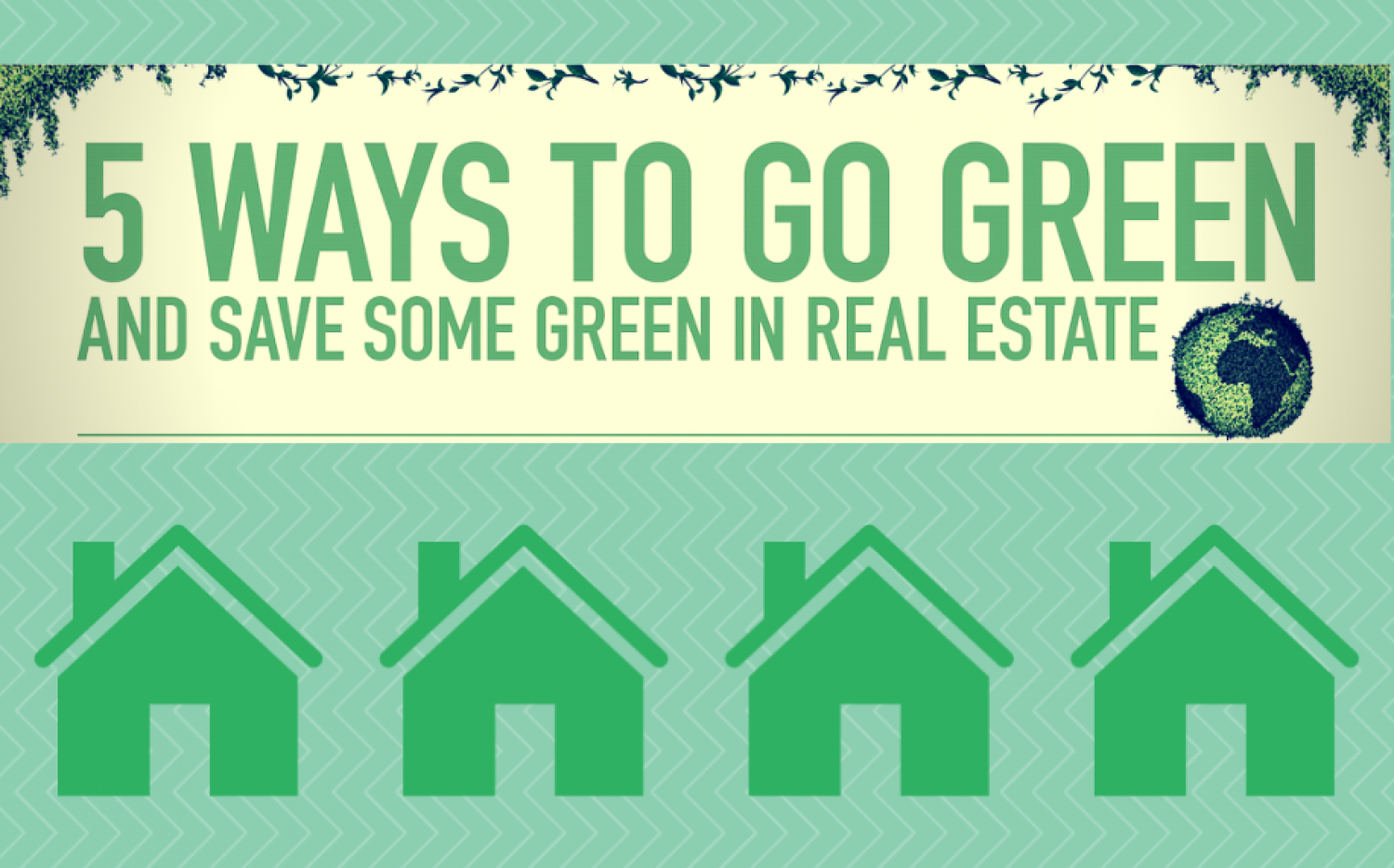 5 Ways To Go Green And Save Some Green In Real Estate Infographic