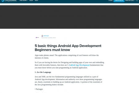 5 basic things Android App Development Beginners must know Infographic