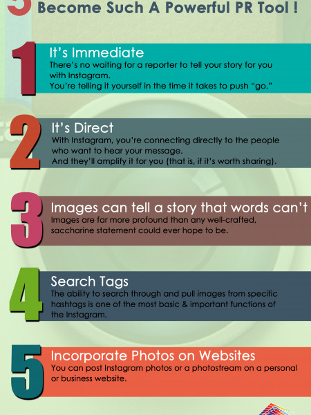 5 reasons why Instagram has become such a powerful PR tool Infographic