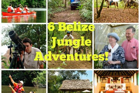 6 Belize Jungle Adventures from Chaa Creek's Nature Reserve Infographic
