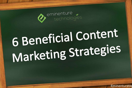 6 Beneficial Content Marketing Strategies Infographic