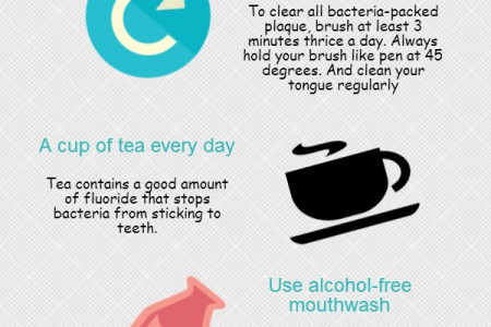 6 Best ways to keep your teeth clean and healthy Infographic