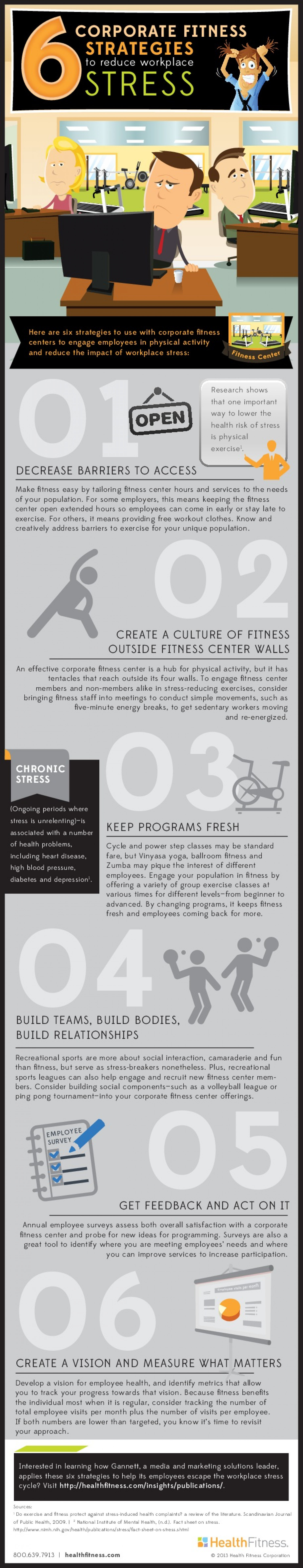 6 corporate fitness strategies to reduce stress Infographic