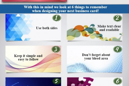 6 Design Ideas while creating business cards Infographic