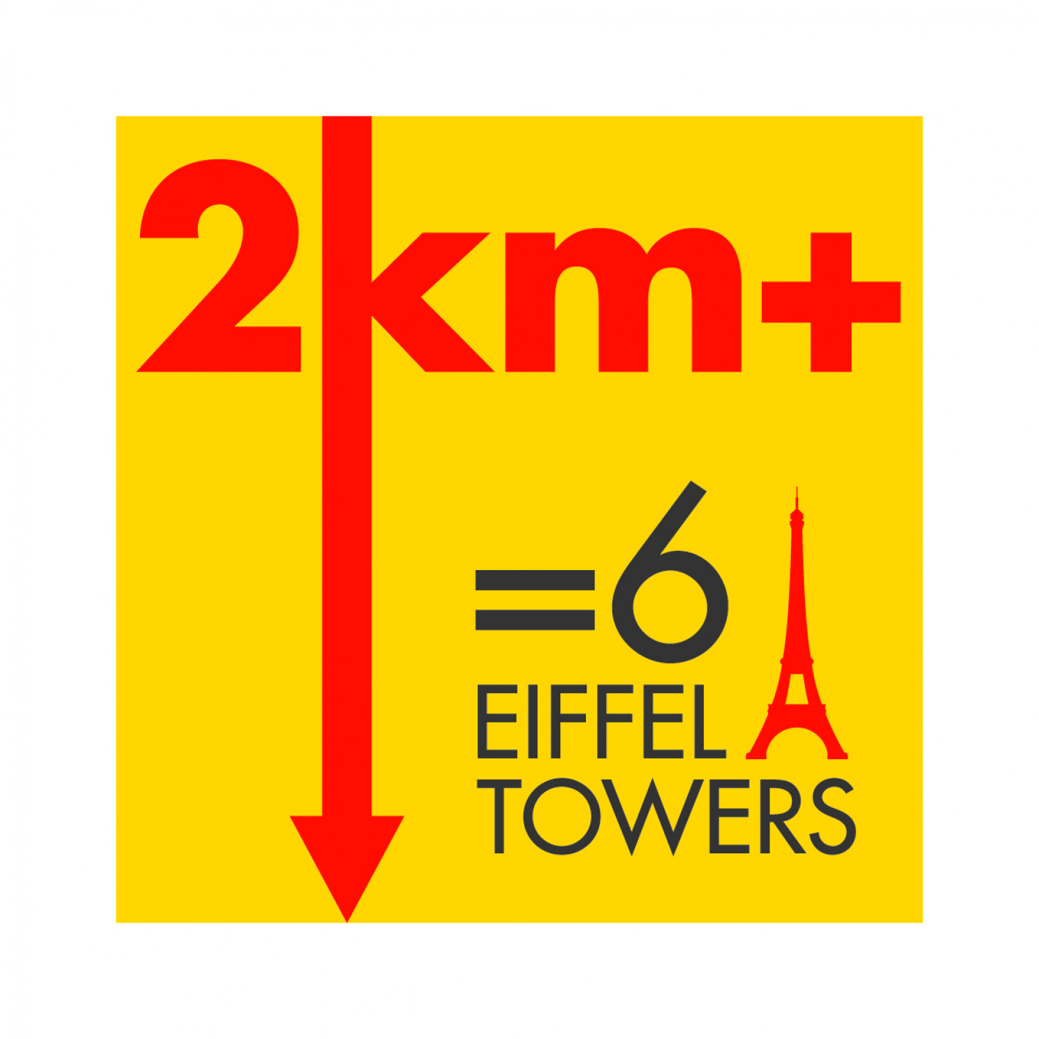 6 Eiffel Towers Infographic