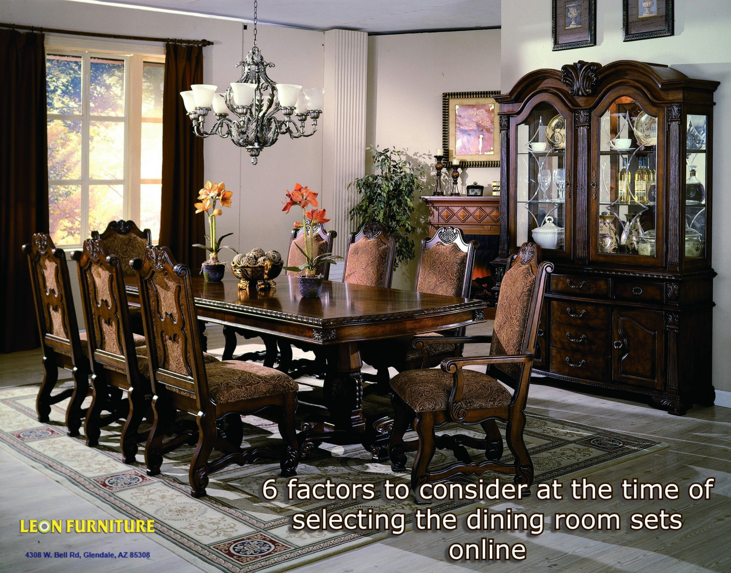 6 factors to consider at the time of selecting the dining room sets online Infographic