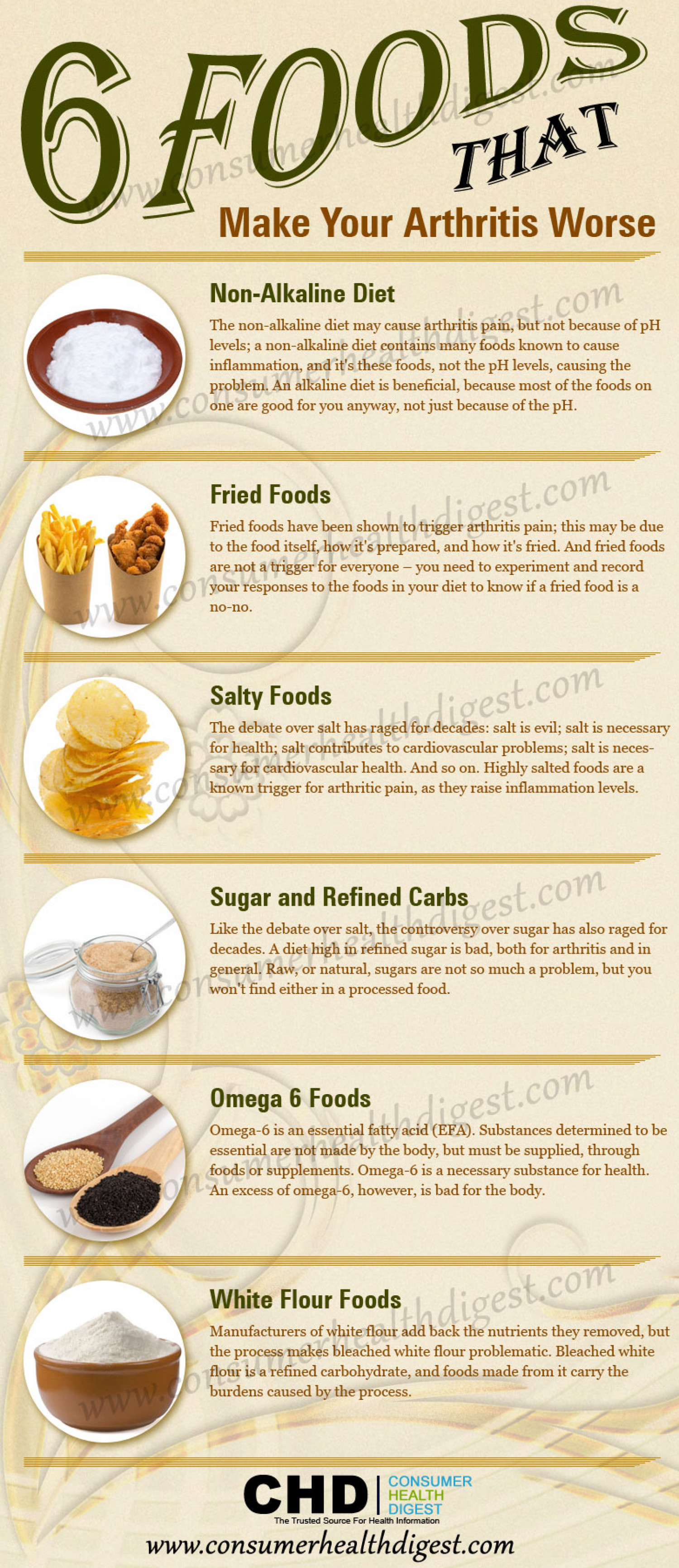 Foods Not To Eat If You Have Arthritis