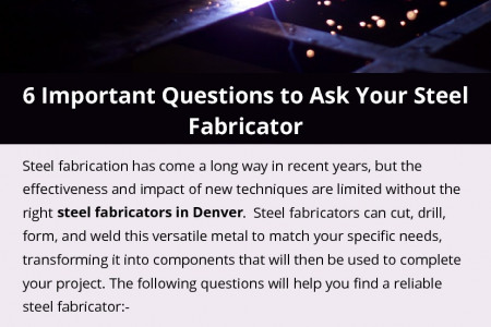 6 Important Questions to Ask Your Steel Fabricator Infographic