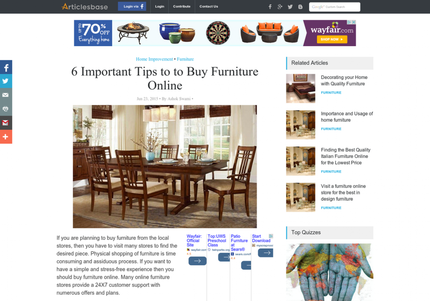 6 important tips to to buy furniture online for Buy furniture online