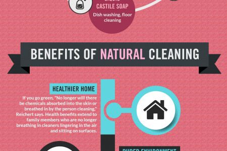 6 Natural Cleaning Products and their Benefits Infographic