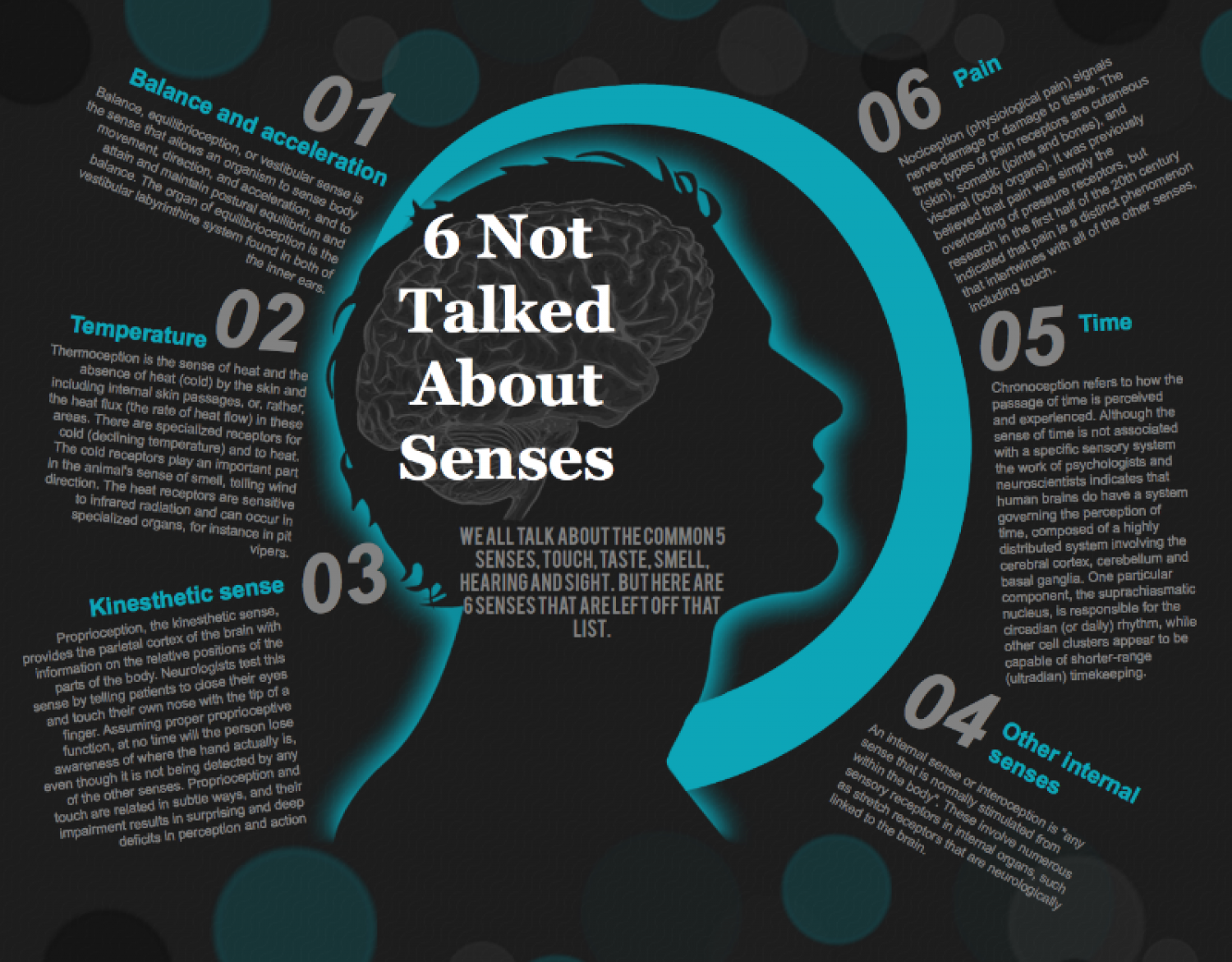 6 not talked about senses | Visual.ly