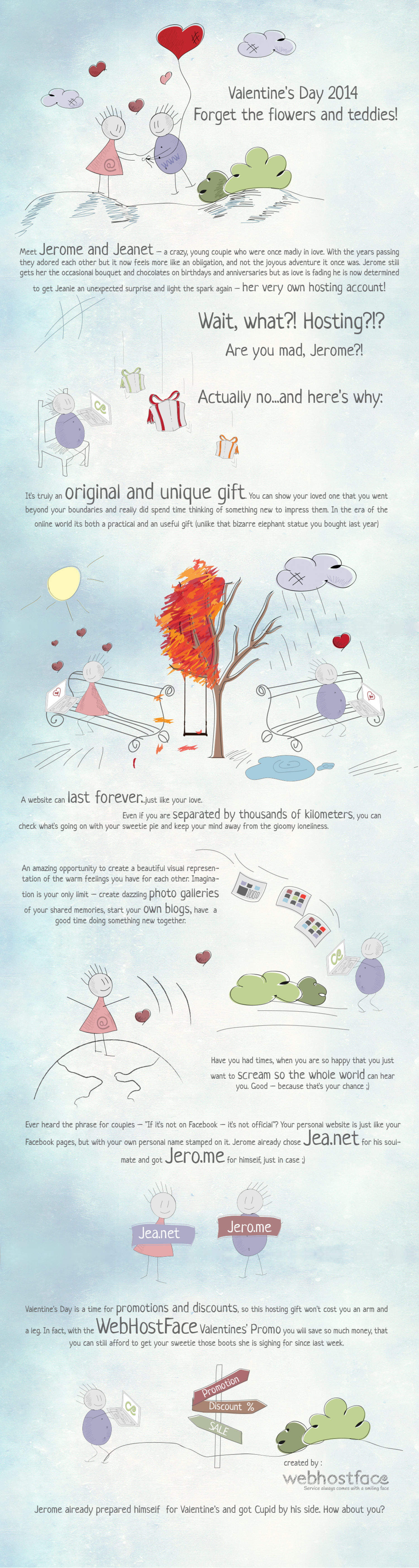 6 Reasons Reasons why Web hosting is the Perfect Valentines Day gift Infographic