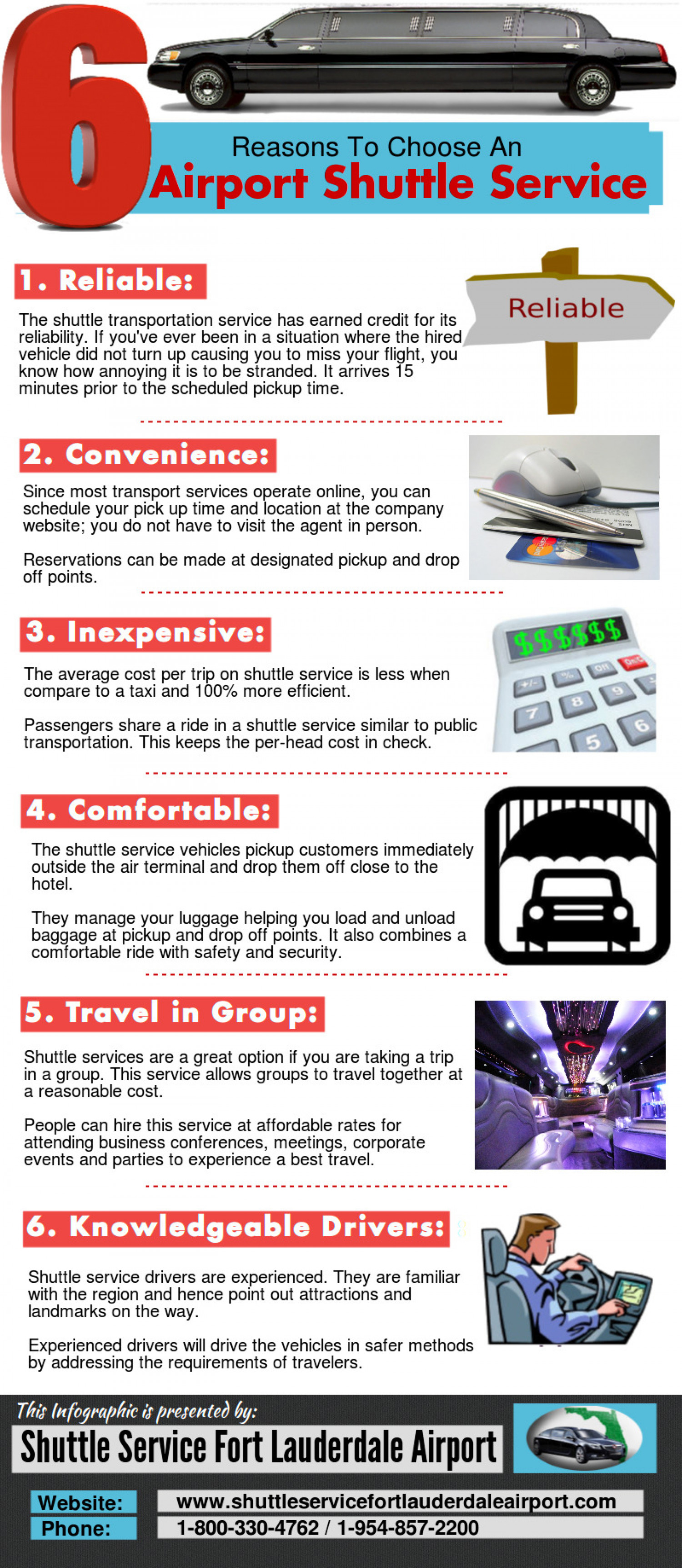 6 Reasons To Choose An Airport Shuttle Service Infographic