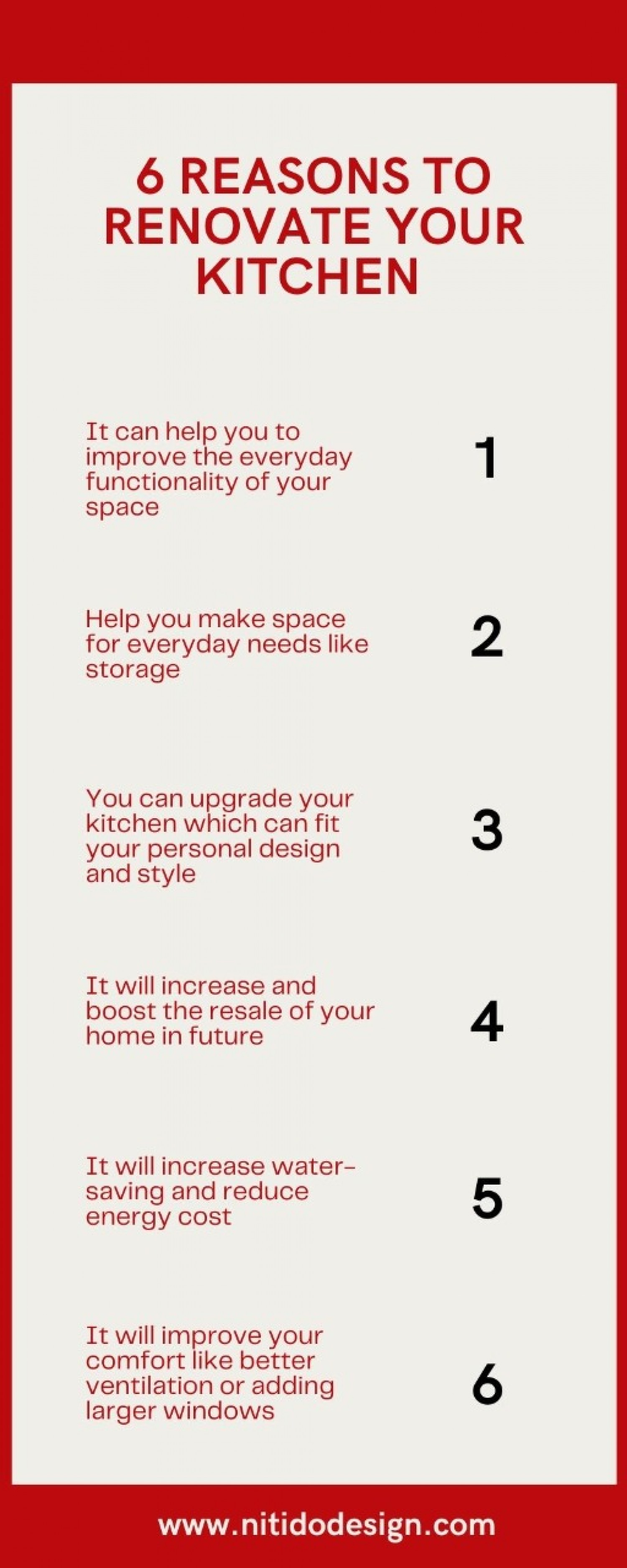 6 Reasons to Renovate your Kitchen Infographic
