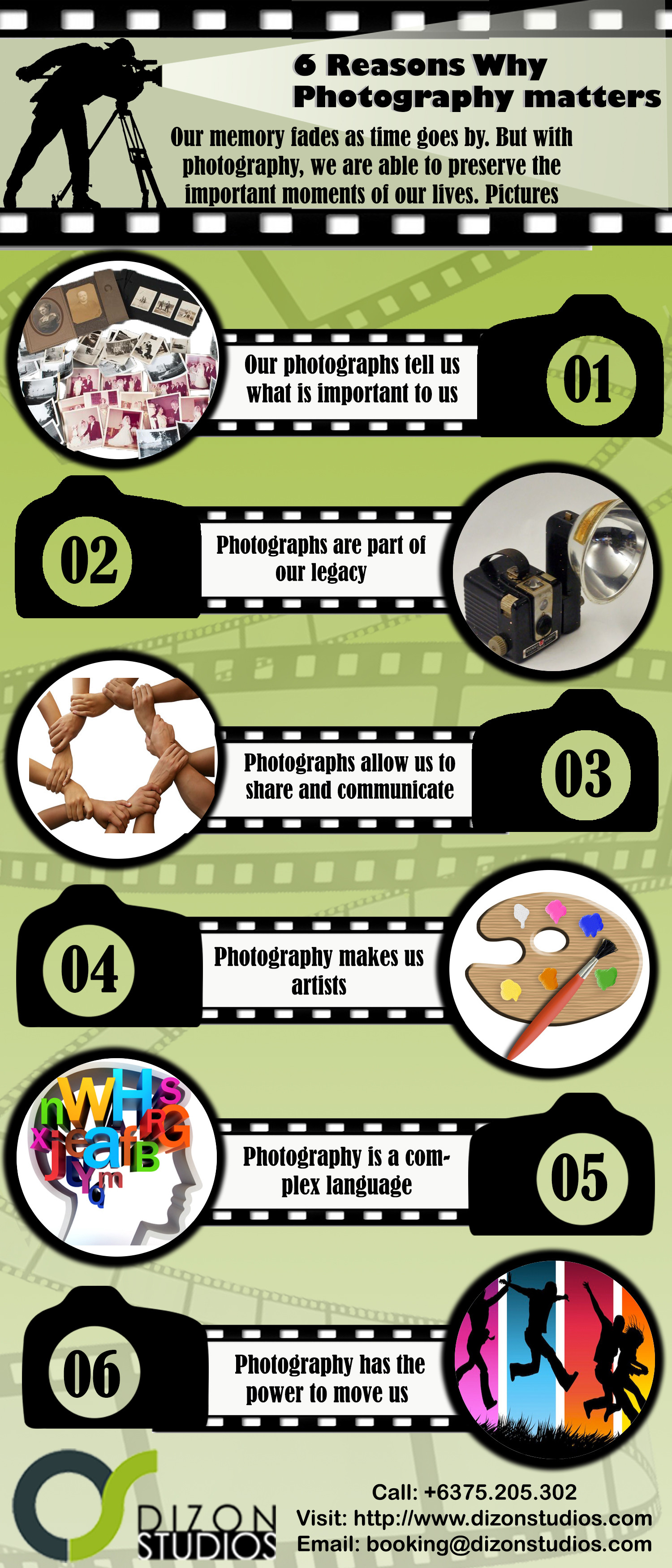 6 Reasons Why Photography Matters Infographic