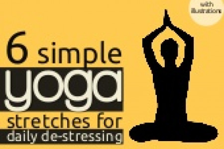 6 Simple Yoga Stretches Infographic