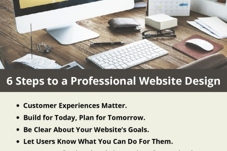 6 Steps to a Professional Website Design Infographic