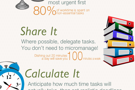 6 Time Saving Tips at Work Infographic