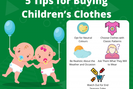 6 Tips for Buying Children's Clothes Infographic