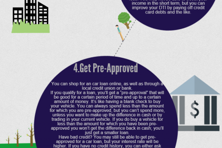 6 tips to get approved for a car loan Infographic