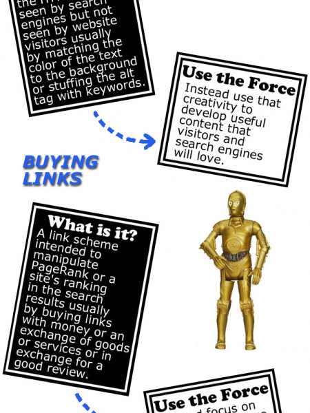 6 Traps Leading to the Dark Side of SEO Infographic