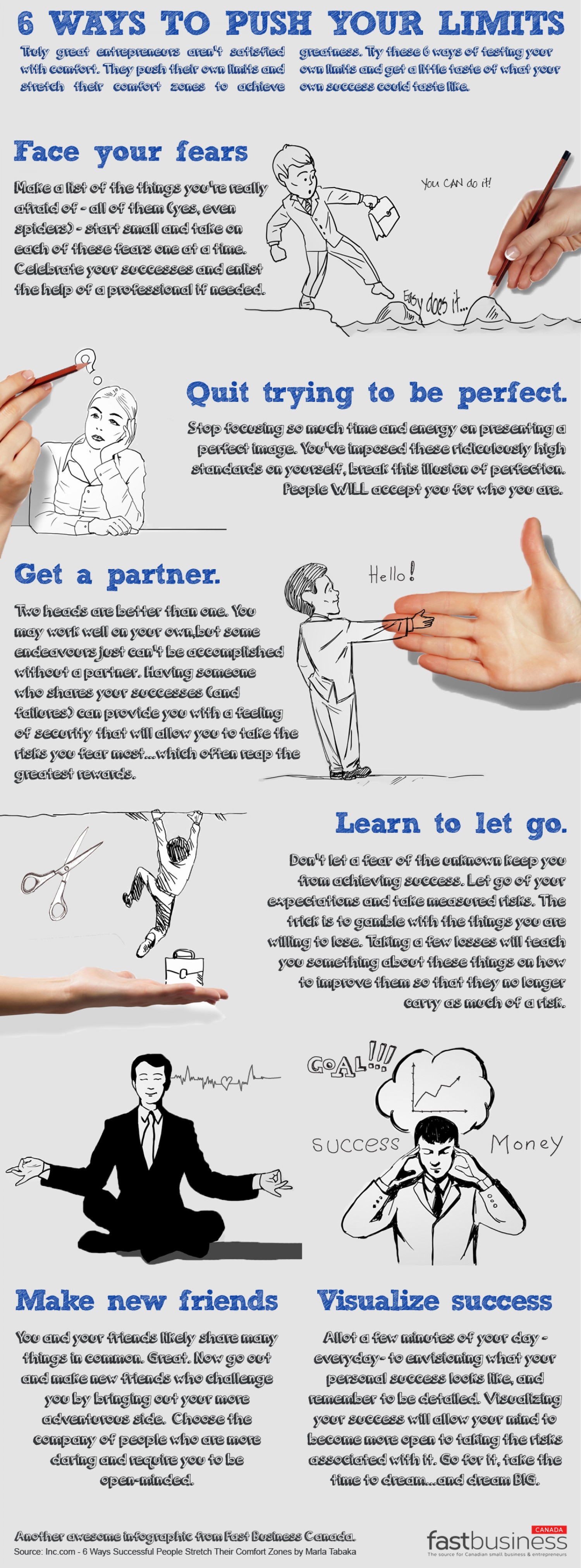 6 Ways Great Entrepreneurs Push Their Limits And How It Helps Them Succeed Infographic