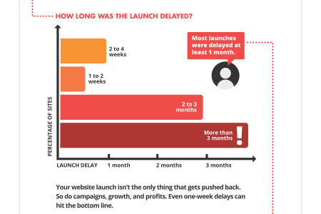 60% of Websites Fail to Launch on Time Infographic