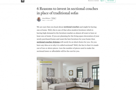 6 Reasons to invest in sectional couches in place of traditional sofas Infographic