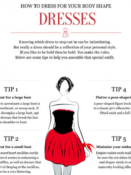 6 Tips on How to Dress for your Body Shape Infographic