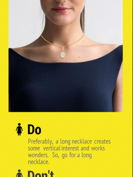 7 Cute Way to Wear Diamond Pendants According to Your Neckline Infographic