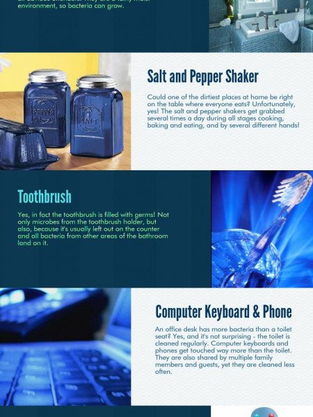 7 Dirty Places at Home Infographic