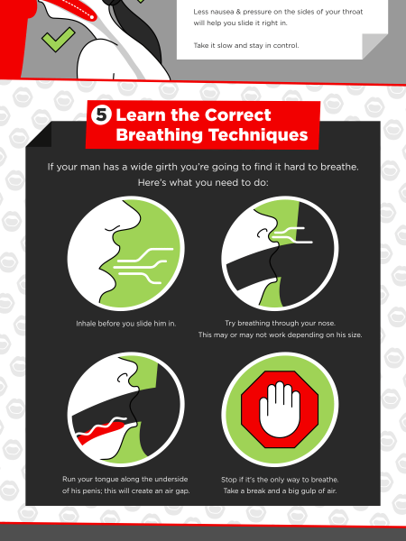 7 Essential Tips to Help You Deep Throat without Gagging Infographic