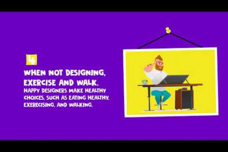 7 Habits of Truly Happy Designers! Infographic
