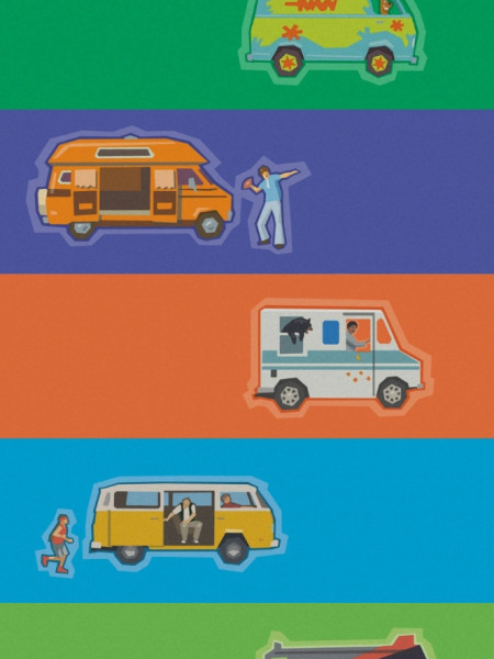 7 Iconic Movie Vans Infographic