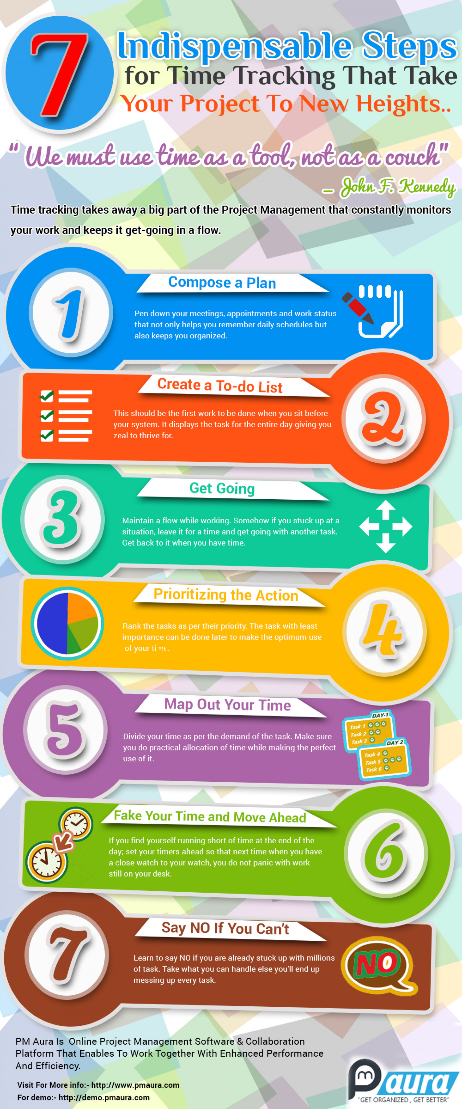 7 Indispensable Steps for Time Tracking That Take Your Project to New Heights Infographic