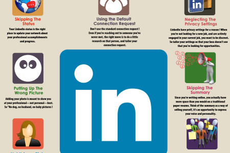 7 Mistakes Not to Make on LinkedIn Infographic
